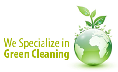 We Specialize in Green Cleaning Logo